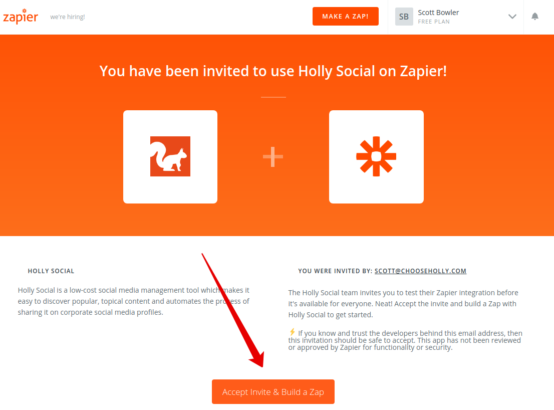 How To: Connect Holly Social with Zapier