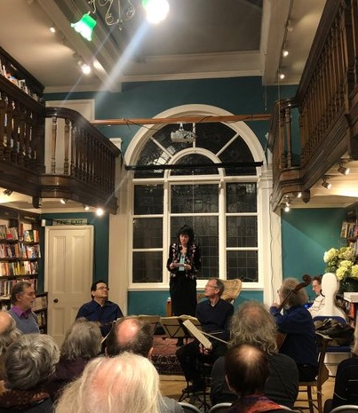 Ruth with the Endellion Quartet, Daunts Bookshop, March 2020